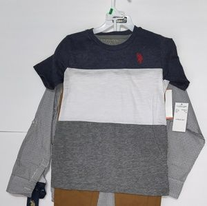 U.S. POLO ASSN.  Boy 3 Piece Set